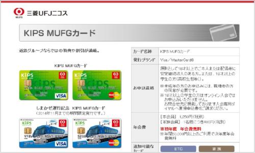 KIPS・MUFGカード